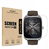 [6-Pack] Screen Protector for ASUS ZenWatch 2-1.6 Inch, AKWOX Full Coverage Anti-Bubble Screen Protective Film