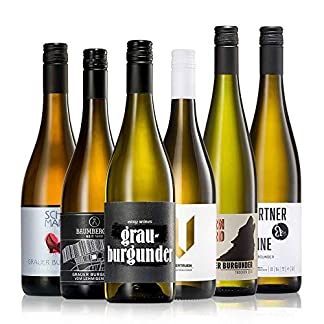 GEILE-WEINE-Weinpaket-GRAUBURGUNDER-6-x-075-Probierpaket-mit-Grauburgunder-Weisswein-und-Rosewein-aus-Deutschland