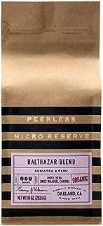 Peerless Coffee & Tea Whole Bean Micro Reserve Coffee, Balthazar Blend Dark Roast, 10 Ounce