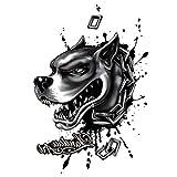 Just Fox – Tatuaje temporal, diseño de perro, tatuaje adhesivo temporal, arte corporal
