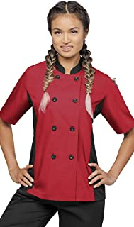 Women's Chef Coat with Mesh Side Panels (XS-3X, 4 Colors)
