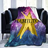 Ultra-Soft Micro Flannel Blanket, Musicals Ha-mil-ton Microfleece Throw Quilt for Couch Bed Sofa Thick Warm Fuzzy Plush Anti-Static Lightweight 50'x 40'