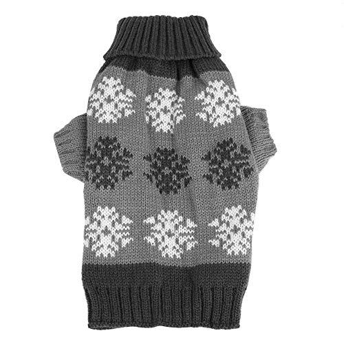 Fdit jurk voor honden, met sneeuwvlokken, bedrukt met gebreide trui winterwarm Kerstmis, voor zoete honden