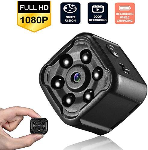 Spy Camera's Verborgen Mini Spy Camera HD 1080P Draagbare Kleine Beveiligingscamera's met Nachtzicht, Verborgen Kleine Nanny Cam Voor Binnen/Buiten