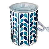 Scentsationals Mosaic Collection - Scented Wax Warmer - Fragrance Wax Cube Melter & Burner - Electric Home Air Freshener Art Gift (Blue)