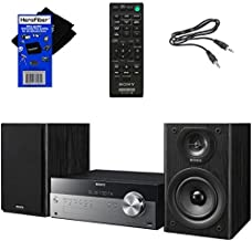 Best Sony All-in-one Stylish Micro Music Hi-Fi Bookshelf Stereo System for Home with Bluetooth, USB, CD Player & AM/FM Radio + Bundle with Remote + Aux Cable + HeroFiber Cloth, Compatible with Sony System Review