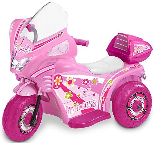 Carromco Dreirad Tribike Princess 6 V Electric Mädchen, Pink/Weiß