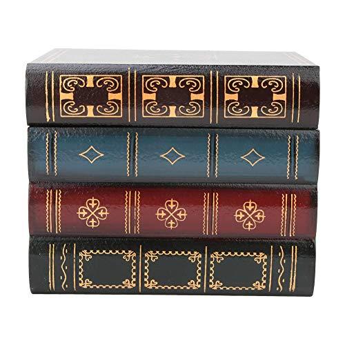 Caja de libros falsos vintage, caja de libros decorativos de atmósfera literaria de estilo europeo liviano, para decoración de estantes, accesorios de fotografía(B trumpet)
