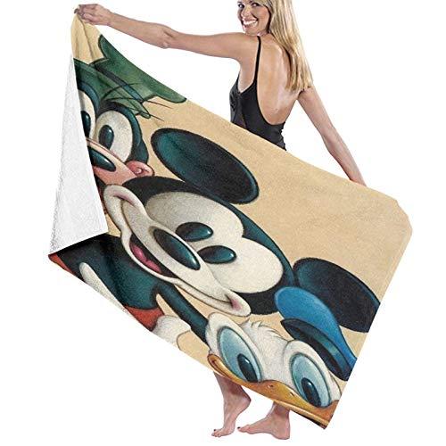 Mickey Donald Goofy - Toallas de baño personalizadas, personalizadas, con texto, imagen, foto, portátil, multiusos, para mujeres y hombres (80 x 130 cm)