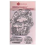 Woodware Jane Gill Clear Magic Stempel, DREI Fliegenpilze, durchsichtig, A6 -
