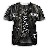 3D Camisetas Para Hombre,Camiseta Con Estampado De Calavera Esqueleto Para Hombre, Moda De Verano, De Manga Corta, Cuello Redondo En 3D, Tops De Manga Corta Para Hombre, Ropa De Calle Hip Ho