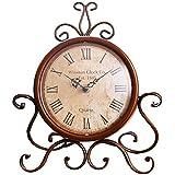 Reloj de sobremesa Vintage, Reloj de Escritorio de país Elegante Reloj de Mesa Antiguo rústico Gabinetes de Cocina Reloj Reloj Atractivo para Sala de Estar Salón Reloj Victoriano único Decoración