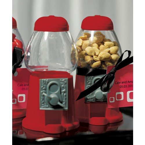 Mini Kaugummiautomat rot - eine Tolle Idee als Gastgeschenk zur Hochzeit, Taufe oder zum Kindergeburtstag