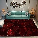 DRTWE Alfombra,Dormitorio Antideslizante Sweet Heart Print Alfombra De Juego para Niños Alfombra...