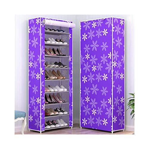 XBDD Zapatero moderno de 10 niveles, organizador de zapatero, zapatero de 58 x 30 x 159 cm, con funda de tela Oxford a prueba de polvo para hasta 30 pares de zapatos (color: A)