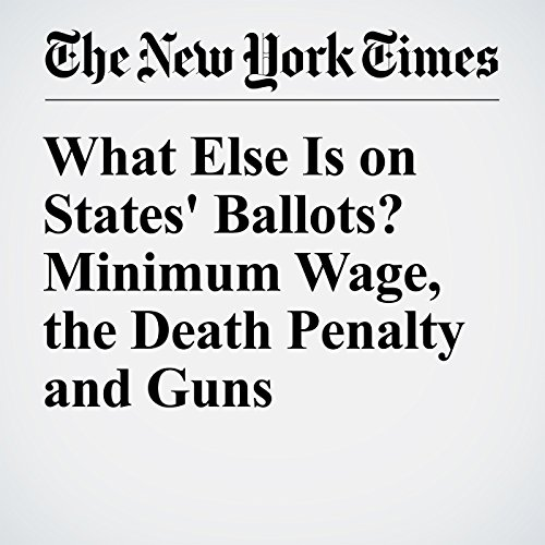 What Else Is on States' Ballots? Minimum Wage, the Death Penalty and Guns audiobook cover art