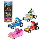 Mickey Mouse Disney Junior Diecast Cars 4-Piece Set, Toy...