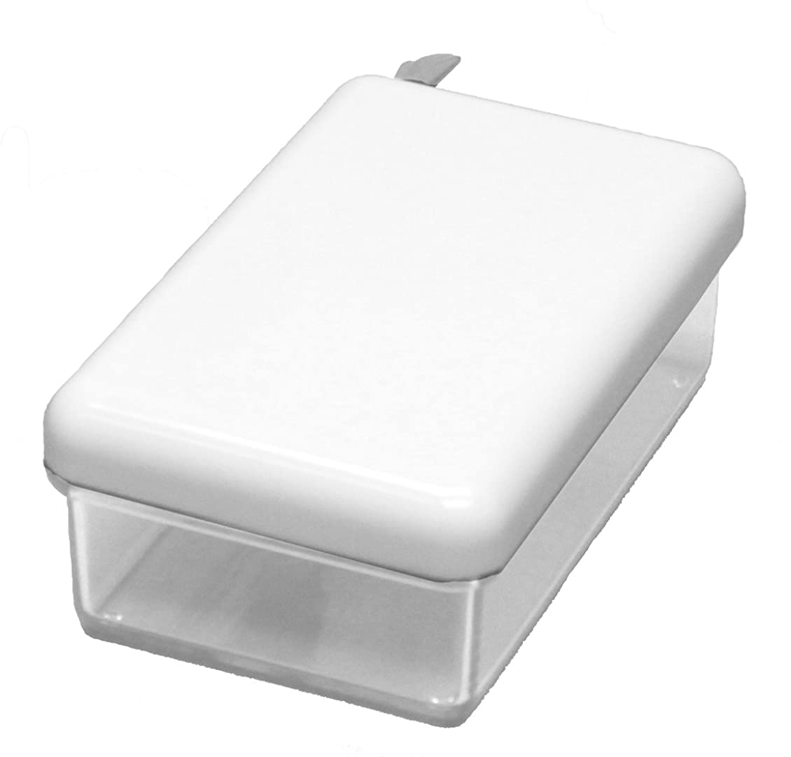 前部伝説スイス人蝶プラ工業 タブロー バター入 ホワイト 221140
