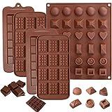 INTVN 5 PCS Silikon Schokolade Formen, Break-apart Schokolade, 3 Arten von Break Apart...