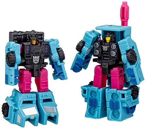 Transformers Toys Generations War for Cybertron: Earthrise Micromaster WFC-E40 Decepticon Battle Squad 2-Pack - Kids Ages 8 and Up, 1.5-inch