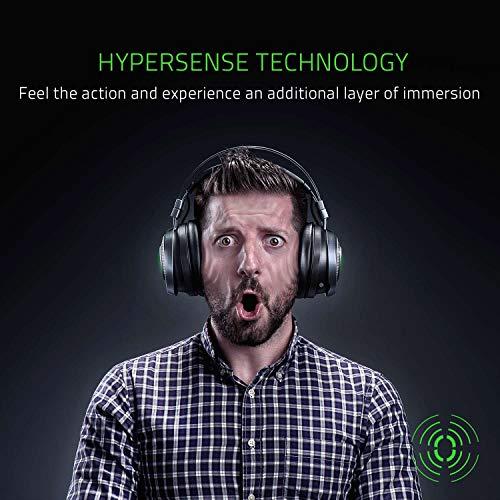 Razer Nari Ultimate – Wireless Gaming Headset (Kabellose HyperSense Kopfhörer, Ohrpolster mit Kältegel) & Mamba Elite Gaming Maus (mit 9 programmierbaren mechanischen Tasten)