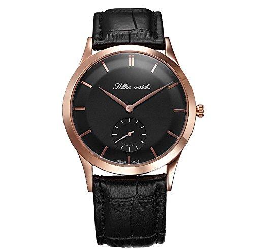 XY-QXZB Il puntatore dell'orologio degli uomini mostra l'orologio ultra-sottile del quarzo della cinghia impermeabile antigraffio non-meccanica , 003