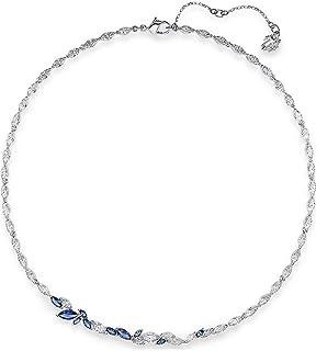 SWAROVSKI Women's Louison Necklace, Blue, Rhodium plated