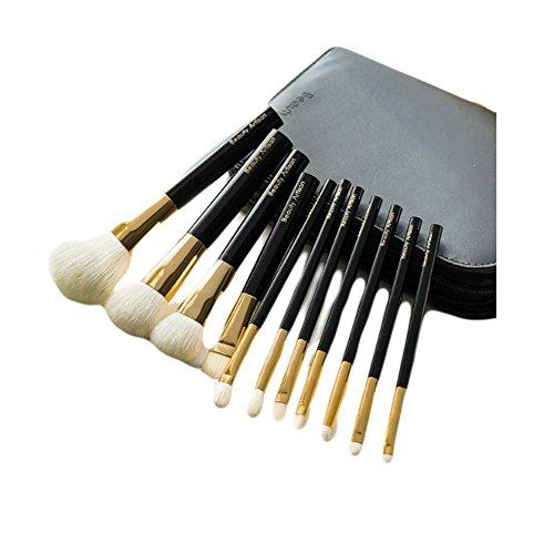 Ensemble de pinceaux de maquillage de pinceaux de maquillage de 11 pièces avec le cas de support