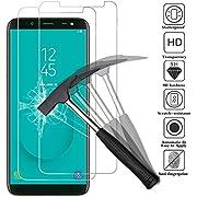 ANEWSIR Kompatibel mit Panzerglas Schutzfolie für Samsung Galaxy J6 2018, [2 Stück] [5,6 Zoll] [9H Härte] [Ultra Clear] [Anti-Bläschen] [Anti-Kratzen] Displayschutzfolie Folie für Samsung J6 2018