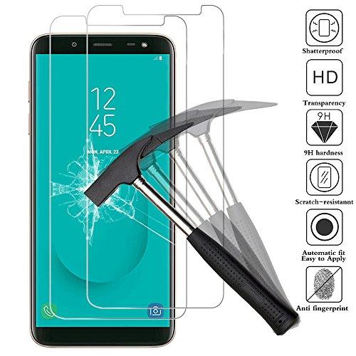 ANEWSIR Schutzfolie für Samsung Galaxy J6 2018, [2 Stück] [5,6 Zoll] [9H Härte] [Ultra Clear] [Anti-Bläschen] [Anti-Kratzen] Displayschutzfolie Folie für Samsung J6 2018