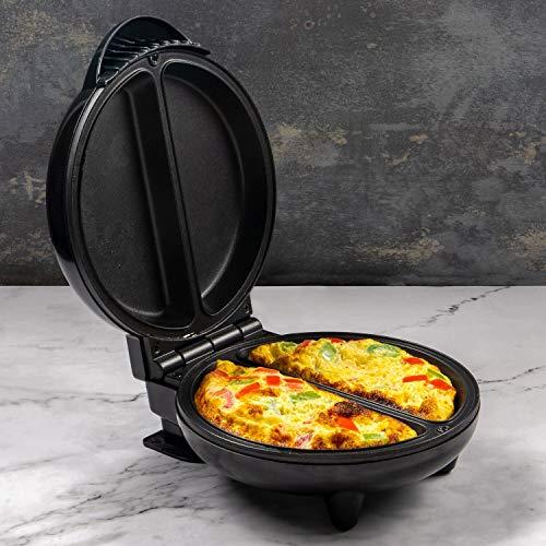 Home Treats Machine à omelette électrique anti-adhésive multi cuiseur avec deux fentes de cuisson 750 W