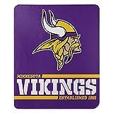 Northwest NFL Minnesota Vikings The Company Splitwide Printed Fleece Throw, 46' x 60', Team Color, 50' x 60' (1NFL031040023RET)