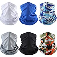 6-Piece Geyoga Summer UV Protection Face Cover