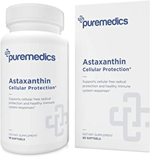 PUREMEDICS Astaxanthin 4mg - Natural Astaxanthin Supplement to Support Free Radicals Protection and Healthy Immune System ...