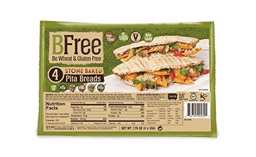 Bfree Gluten Free Stone-Baked Pita Bread, 7.76 Oz [3 Pack]