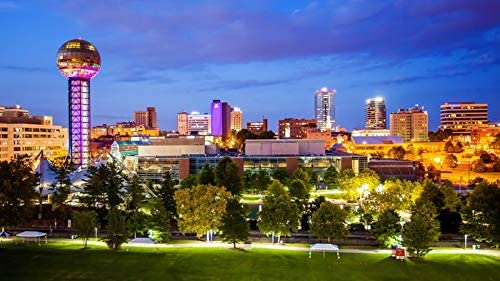 Knoxville Tennessee - Skyline at Super beauty product restock quality top Photography Night A-96209 96 Gifts