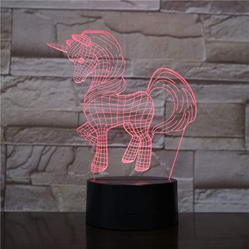 Luz de noche pequeña lámpara de mesa 3D luz de noche de dibujos animados LED múltiples colores regalos de vacaciones para niños