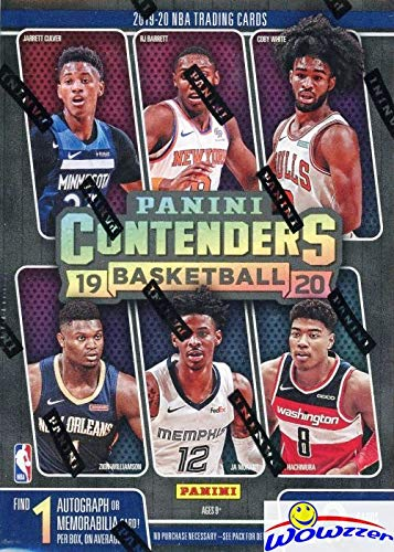 2019/20 Panini CONTENDERS NBA Basketball EXCLUSIVE Factory Sealed Retail Box with AUTOGRAPH or MEMORABILIA! Look for ROOKIES & AUTOS of ZION WILLIAMSON, Ja Morant, Jarrett Culver, RJ & More! WOWZZER!