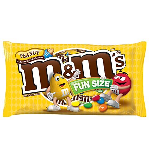 M&M'S Peanut Chocolate Candy Fun Size 10.57-Ounce Bag