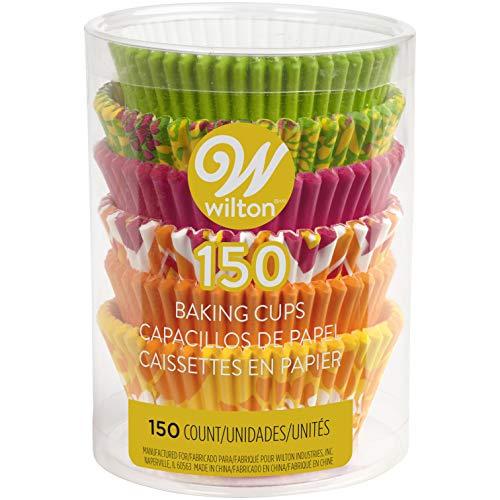 Wilton 415-2180 Caissettes de Cuisson à Fleurs, Taille Standard, Pack de 150, Autre, Multicolore, 9,62 x 9,62 x 12,16 cm