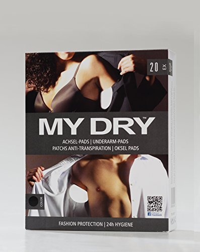 MYDRY Lot de 20 pads pour aisselles Noir