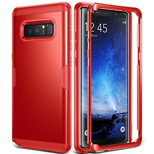 YOUMAKER Galaxy Note 8 Case, Full Body Heavy Duty Protection Shockproof Slim Fit Case Cover for Samsung Galaxy Note 8 (2017 Release) Without Built-in Screen Protector (Red/Red)
