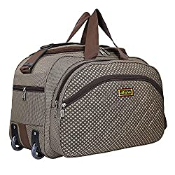 Wholesale High Quality Easy Carry Durable Fashion high-Capacity Traveling Duffle BagTravel Duffle Bag with Roller Wheels (Gala Patang Brown)