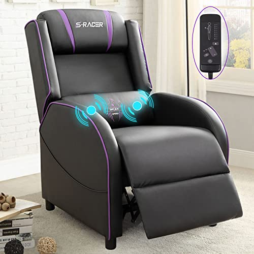 Homall Gaming Recliner Chair Racing Style Single Living Room Sofa Recliner PU...