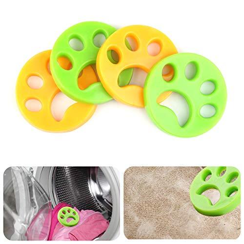 WENTS Removedor de Pelo para Mascotas de 4 Piezas para lavandería - Reutilizable Quite el Pelo de los Gatos y los Perros en la Ropa, Herramienta de Limpieza del Cabello de Animales para Lavadora