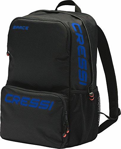 Cressi Space Bag Rucksack, Schwarz/Logo Blau, One Size