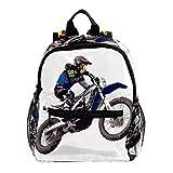 Sac à Dos Enfant Moto Motocross Sac a Dos Garçons Livre Sac à Dos Maternelle Cartable Petit Sac à Dos pour Les Enfants 25.4x10x30 CM