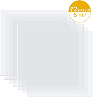 12 Pieces 5 mil Blank Stencil Material Mylar Template Sheets for Stencils, 12 x 12 inches
