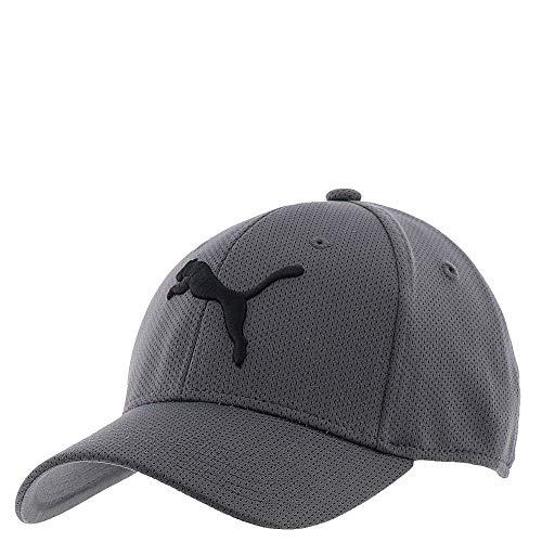 PUMA mens Evercat Mesh Stretch Fit Baseball Cap, Medium Grey, Large-X-Large US