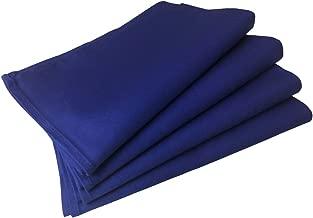 業務用ナフキン4枚セット 50cm×50cm サテン地綿100% 三巻縫製 (ブルー)